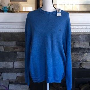 Chaps denim blue sweater NWT xl